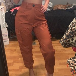 Dark orange cargo pants